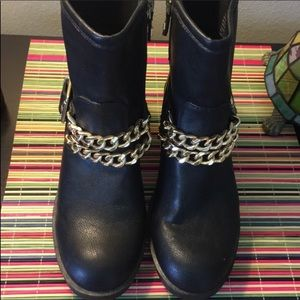 Sam & Libby Black Boots Size 7